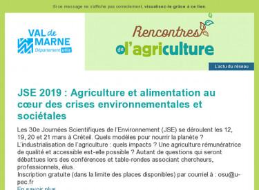 [Rencontres de l'agriculture] Lettre d'information n°4