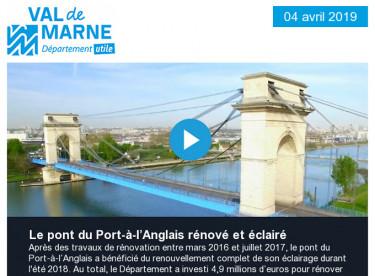 Le pont du Port-à-l'Anglais rénové et éclairé / Plus de bus sur les lignes 172 et 201