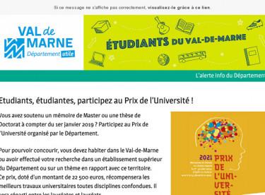 Etudiants, étudiantes, participez au Prix de l'Université !