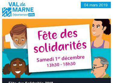 Fête des solidarités / 1 000 embauches pour les Val-de-Marnais / Lutte contre les violences faites aux femmes