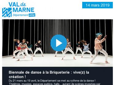 Biennale de danse à la Briqueterie / Séance du Conseil départemental sur le budget / Balade urbaine à Villejuif