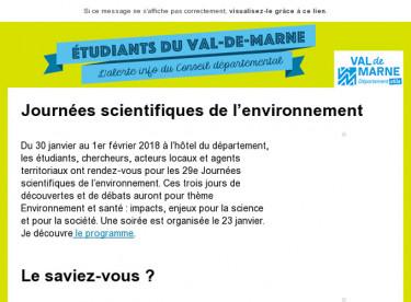 29e Journées scientifiques de l'environnement