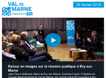 Réunion publique / Un Notre Monde / Prix de l'Université / Sport / Environnement / Egalité Femmes-Hommes / Archéologie