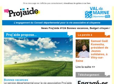 News Proj'aide #124 Bonnes vacances, Budget citoyen