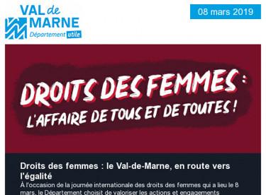 Droits des femmes : le Département agit tous les jours contre les violences, le cybersexisme et les inégalités
