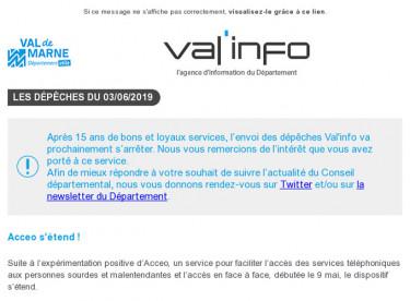 Val'info : Acceo / Diagnostic archéologique / info travaux