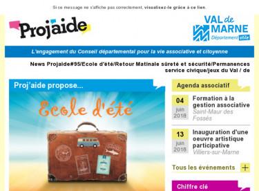 News Projaide#95/Ecole d'été/Retour Matinale sûreté et sécurité/Permanences service civique/jeux du Val-de-Marne