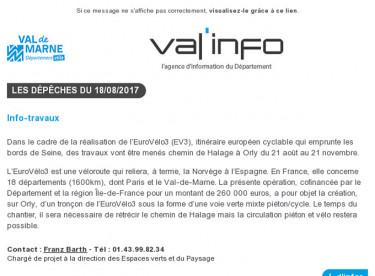 Val'info : 18/08/2017