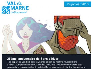 25ème Sons d'hiver / UPEDD / Emploi / Grand Paris / Le Val-de-Marne sur France 5