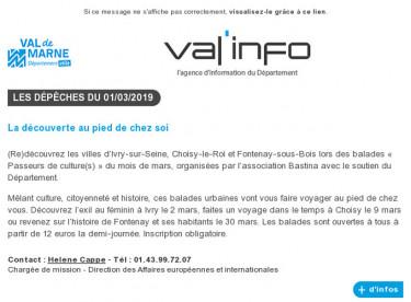 Val'info : 01/03/2019
