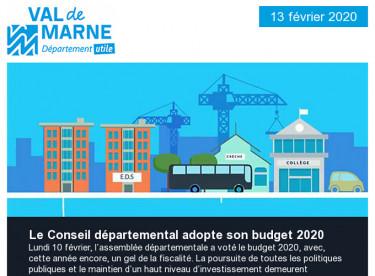 Adoption du budget 2020 - Séance du 10 février 2020 - Commission permanente