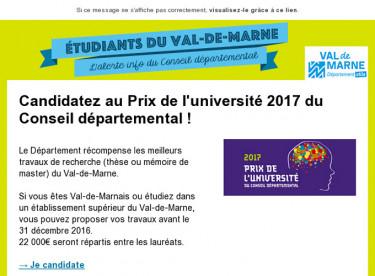 Prix de l'Université 2017