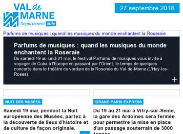 Musique / Musée / Travaux / Handicap / Jeux du Val-de-Marne / Communique / Archéologie