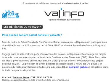 Val'info : 16/11/2017