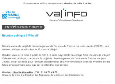 Val'info : 11/03/2019