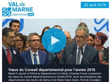 Vœux 2018 / Améthyste / Métropole / Education / Vigilance crues / Grand Paris Express / Exposition