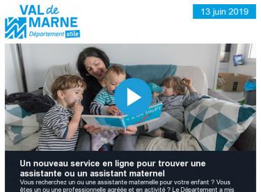 Un nouveau service en ligne pour trouver une assistante ou un assistant maternel / Commission permanente du 11 juin