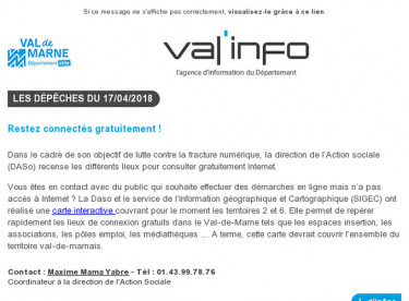 Val'info : 17/04/2018