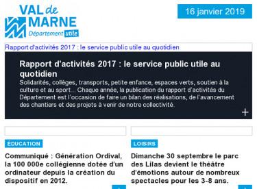 Rapport d'activités / Ordival / Vitry Mômes / Téléval / Festi'Val de Marne