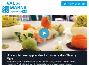 Cuisine mode d'emploi : une école pour apprendre à cuisiner selon Thierry Marx / Logement : des moyens pour répondre à la crise
