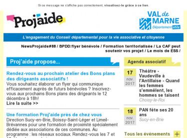 NewsProjaide#88 / BPDD:flyer bénévole / Formation territorialisée / La CAF peut soutenir vos projet / Le mois de ESS