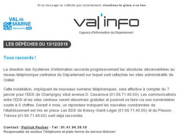 Val'info : 13/12/2018