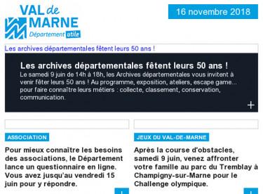 Archives départementales / Association / Jeux du Val-de-Marne / Cité des métiers / Balade urbaine / Réunion publique / Sortie