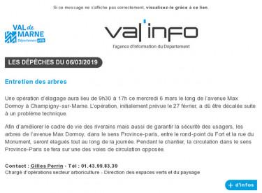 Val'info : 06/03/2019