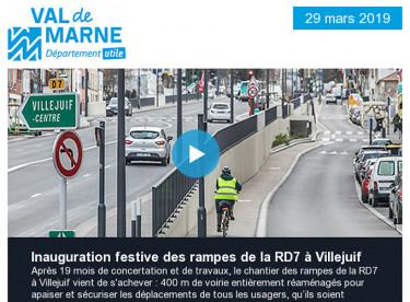 Participez à l'inauguration festive des rampes de la RD7 à Villejuif / Les sciences des livres commencent le 26 janvier
