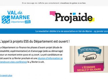 Flash Proj'aide #3 Appel à projets ESS ouvert