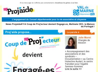News Projaide#114 Coup de Proj'ecteur devient Engagé.es, Matinale CEC, la Maison du Portugal