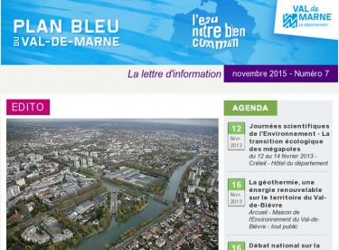 Lettre d'information du Plan bleu - La géothermie dans le Val-de-Marne