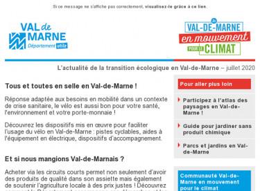 Lettre d'actualité du Val-de-Marne en mouvement pour le climat - juin 2020