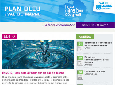 Lettre d'information du Plan bleu n°1 - Février 2012
