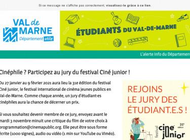 Cinéphile ? Participez au jury du festival Ciné junior !