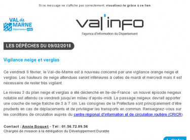 Val'info : 09/02/2018