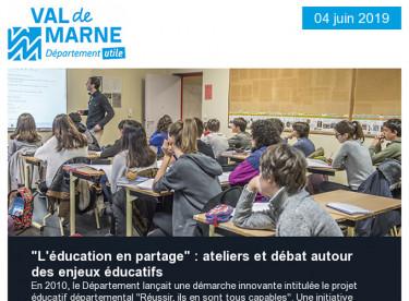 Education en partage /Conférence AVC/Baignade/Forêt de Notre-Dame/Atelier archéologie