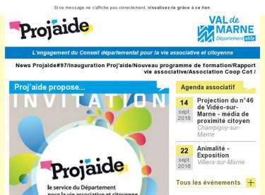News Projaide#97/Inauguration Proj'aide/Nouveau programme de formation/Rapport vie associative/Association Coop Cot