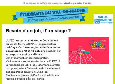 Besoin d'un job, d'un stage ?