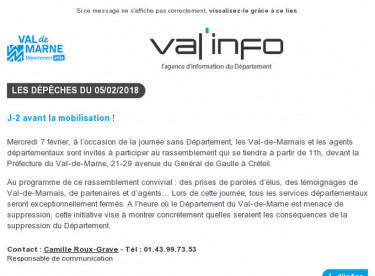 Val'info : 05/02/2018