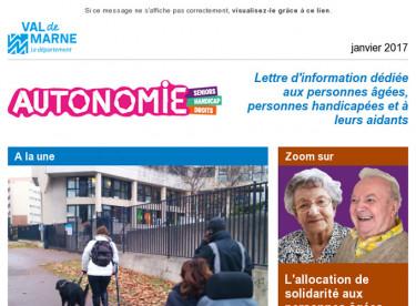 Lettre d'information pour les personnes âgées, les personnes handicapées et les aidants
