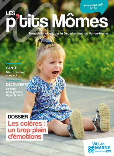 Couverture du magazine les P'tits mômes n°55 du Conseil départemental du Val-de-Marne