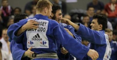 Le club de Sucy-en-Brie (94) est devenu champion de France de judo par équipes en sortant Levallois. @P. Rabouin / FF Judo