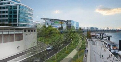 Le quai Jean Compagnon sera mis en double sens de circulation avec un espace élargi pour les piétons.